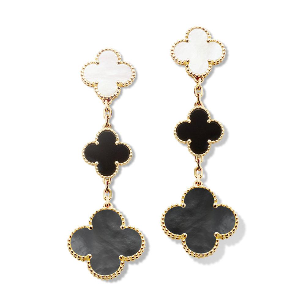 2.Alhambra Earrings, 3 motifs, by Van Cleef & Arpels $10,000,  vancleefarpels.com