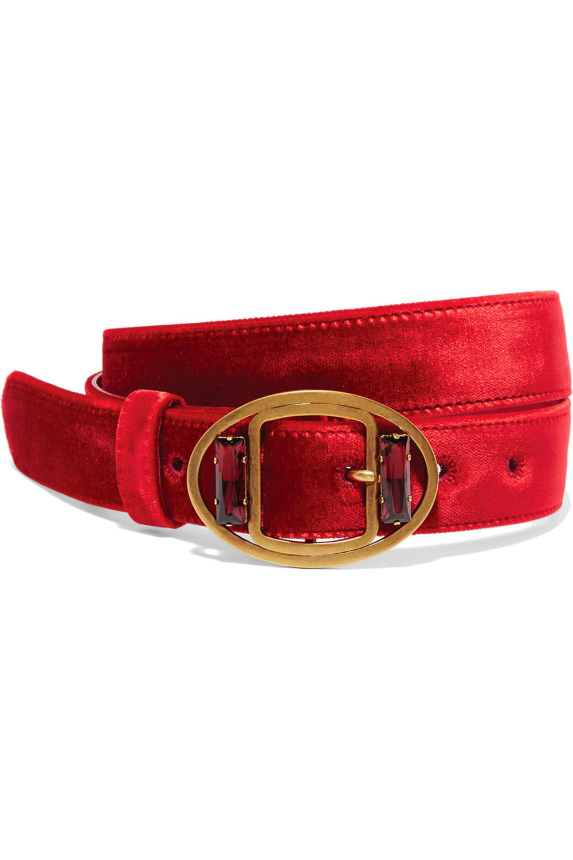 8.Embellished Velvet Waist Belt by Prada US$430,  net-a-porter.com
