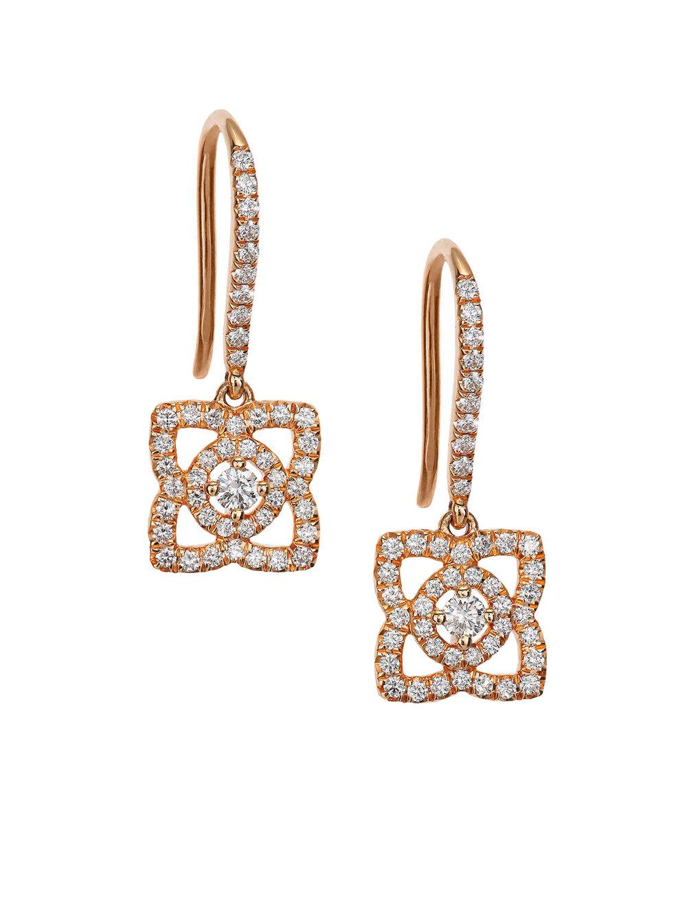1.Enchanted Lotus Earrings by De Beers $3,450,  debeers.ca