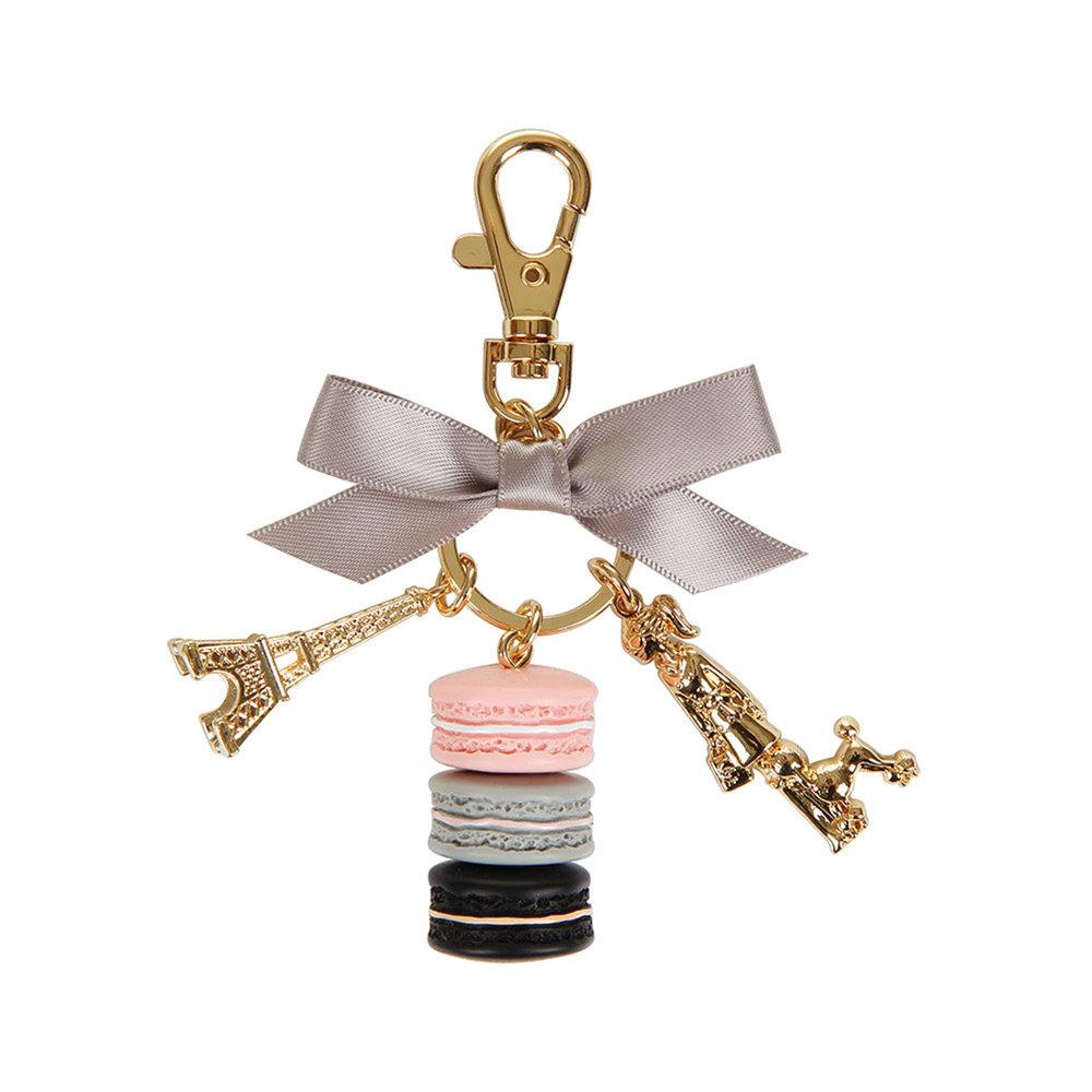6.Parisienne Macarons Key Ring, Rose, by Ladurée $63,  ca.amara.com