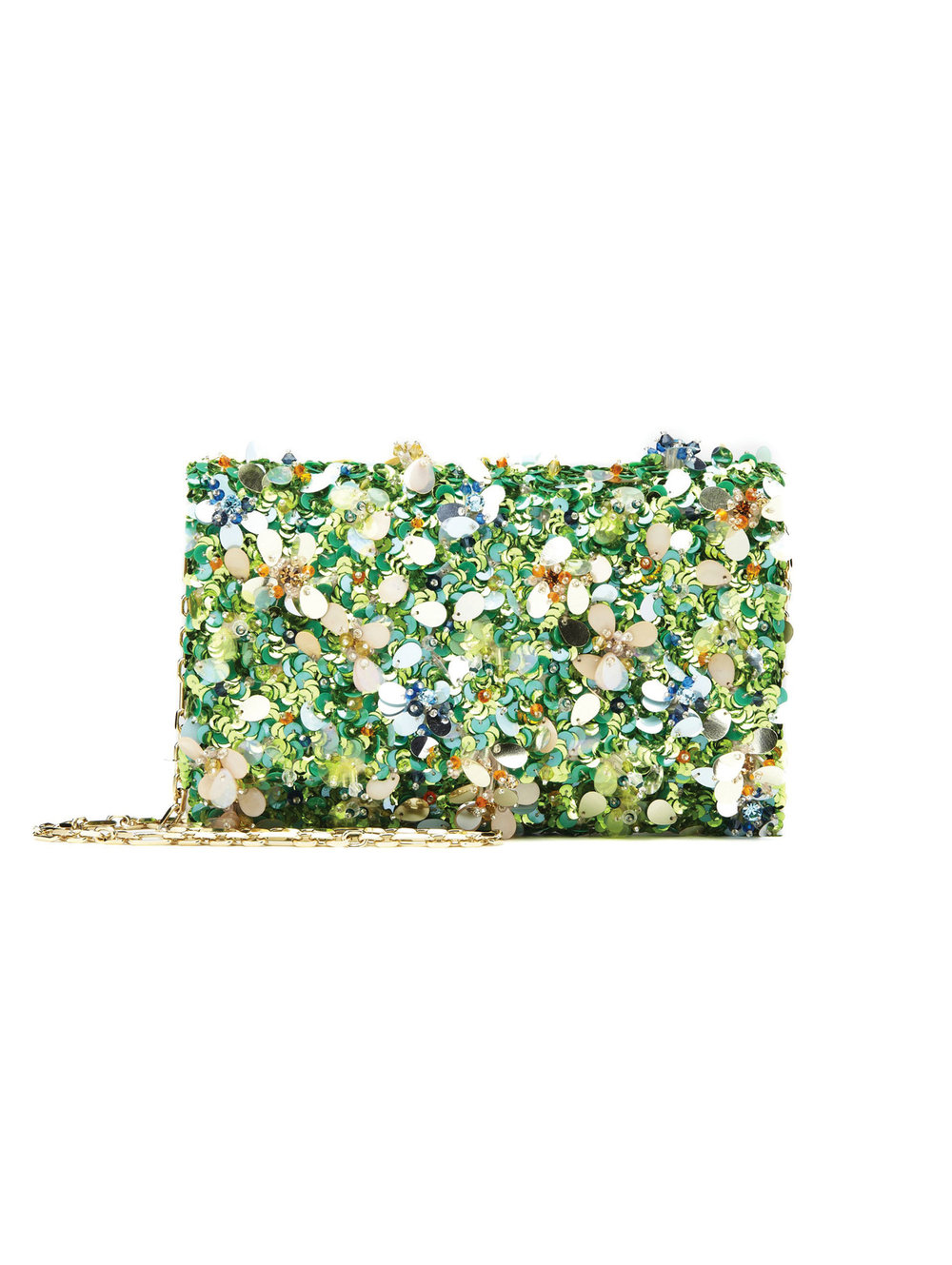 4.Multi Embroidered Satin Dede Bag with Swarovski Crystals by Oscar de la Renta $2,607, oscardelarenta.com