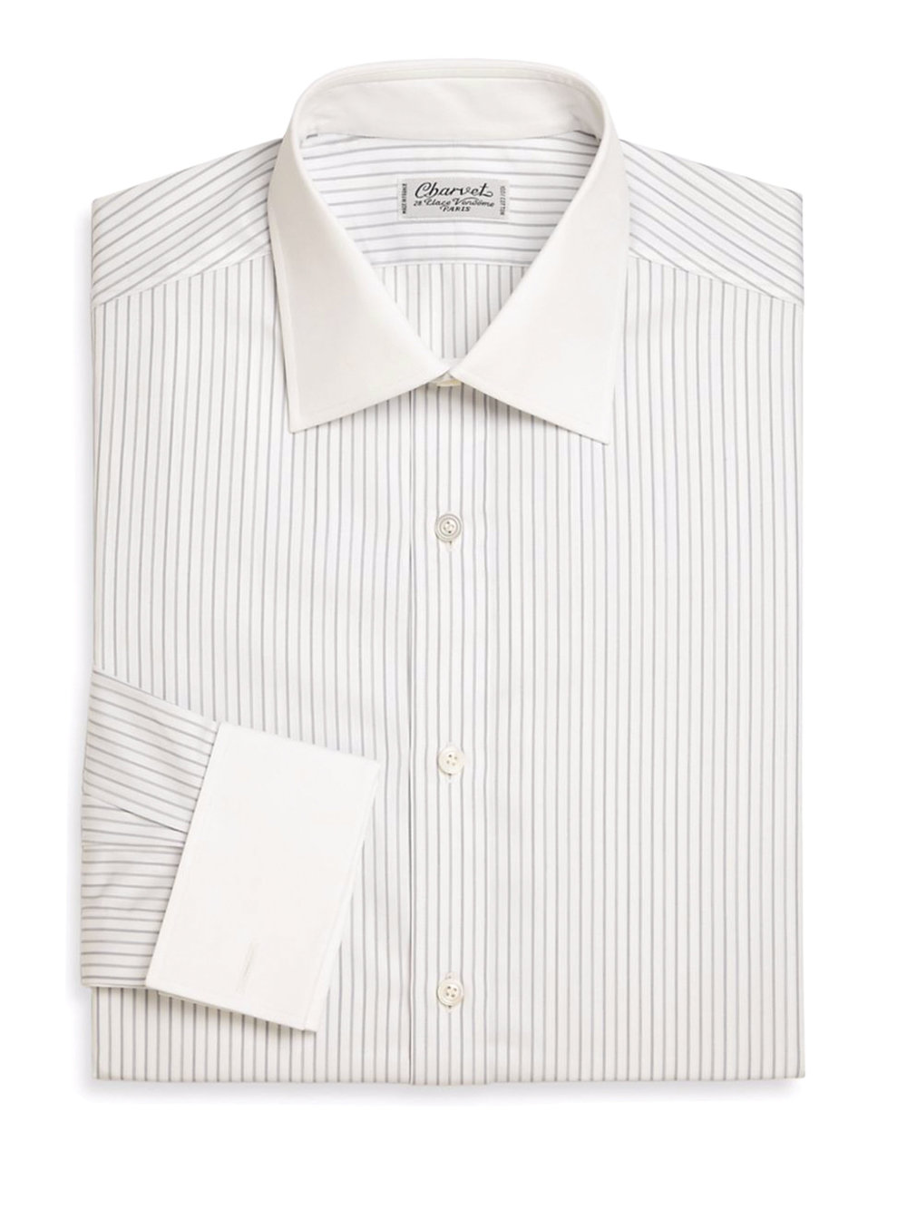7.Regular-Fit Striped Cotton Dress Shirt by Charvet ‬$865,  saksfifthavenue.com