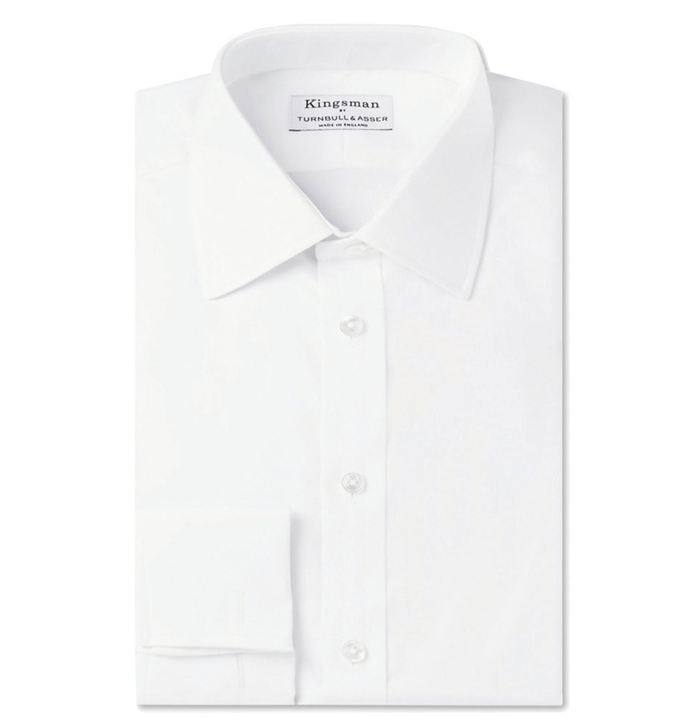 3.Turnbull & Asser White Double-Cuff Cotton-Twill Shirt by Kingsman‭ ‬$406,  mrporter.com