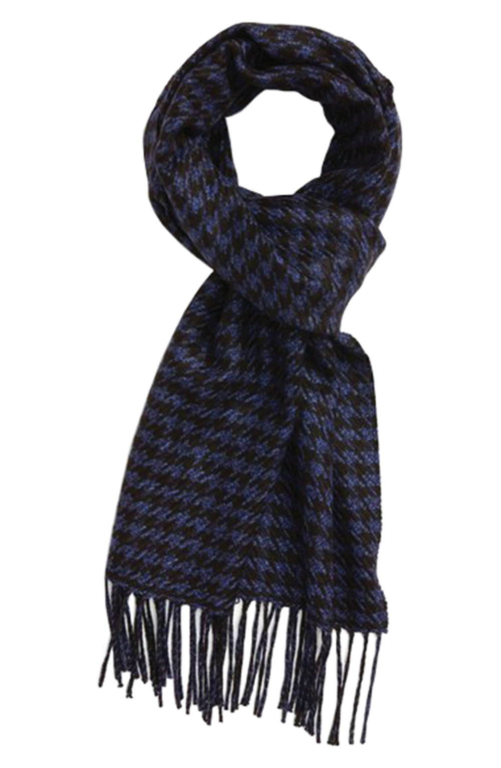 3.Houndstooth Silk & Cashmere Scarf by Canali $290,  nordstrom.com