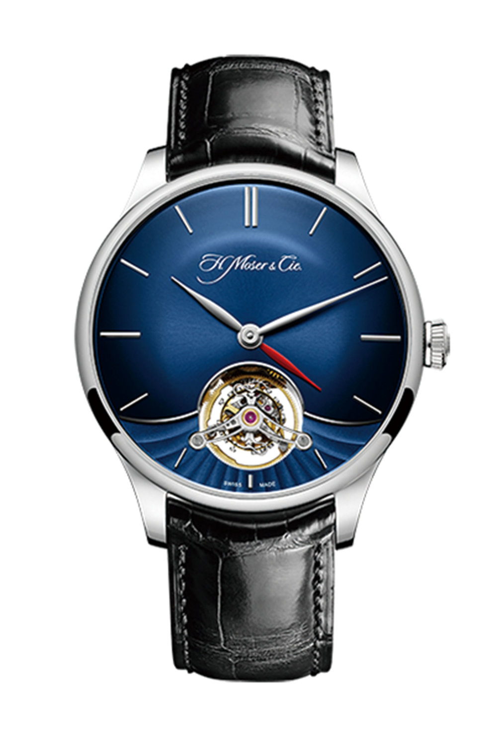 9.Venturer Tourbillon Dual Time White Gold Blue Fumé Dial by H. Moser & Cie Price upon request,  palladiocanada.com