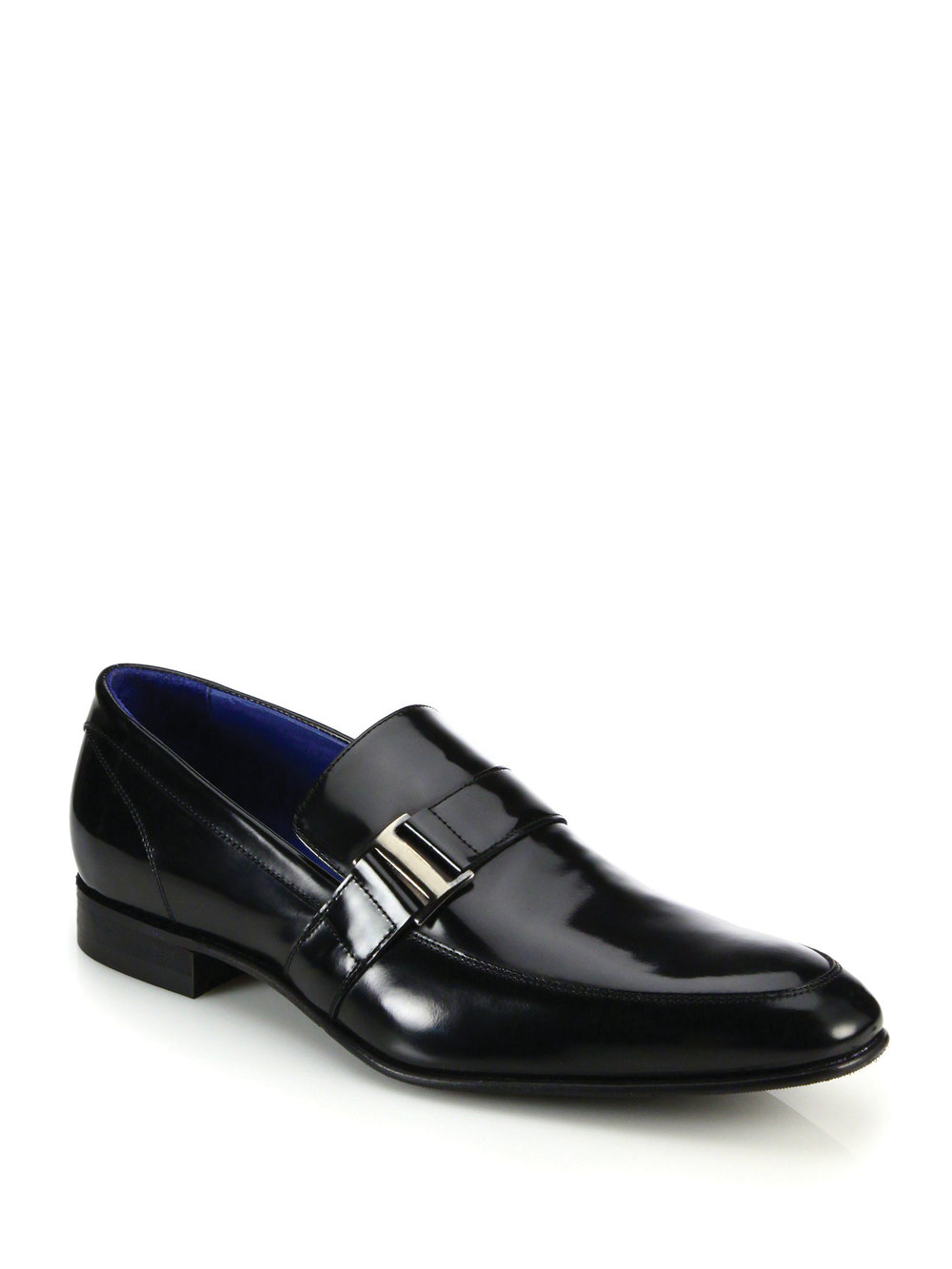 10. Freddy Side-Buckle Leather Loafers by Saks Fifth Avenue Collection ‬$325, saksfifthavenue.com
