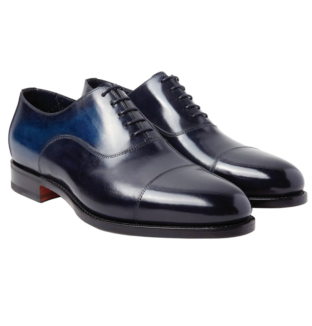6.Burnished-Leather Oxford Shoes by Santoni $942,  mrporter.com