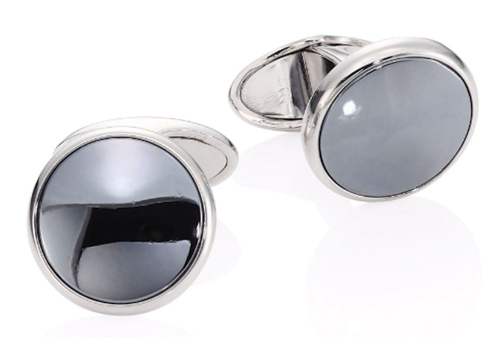 5.Button Hematite Cufflinks by Dunhill 袖釦‭ ‬$510,  saksfifthavenue.com