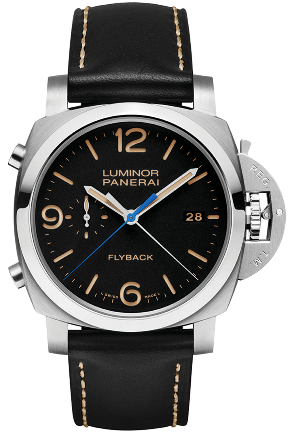 3.Luminor 1950 3 Days Chrono Flyback Automatic Acciaio – 44mm by Panerai $14,200,  palladiocanada.com