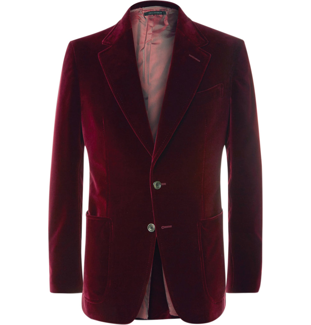 5. Merlot Shelton Slim-Fit Cotton-Velvet Tuxedo Jacket by Tom Ford ‬$4,010,  mrporter.com