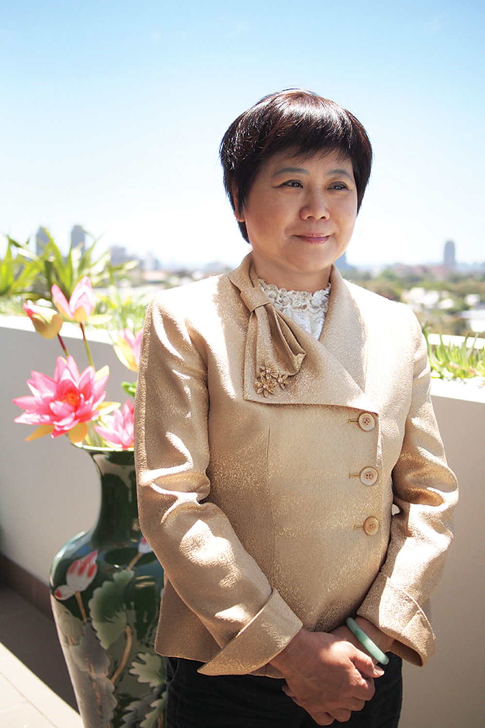 World renowned classical Chinese painter Cuiying Zhang believes that she must cultivate her character in order to improve her art. Photo courtesy of Cuiying Zhang