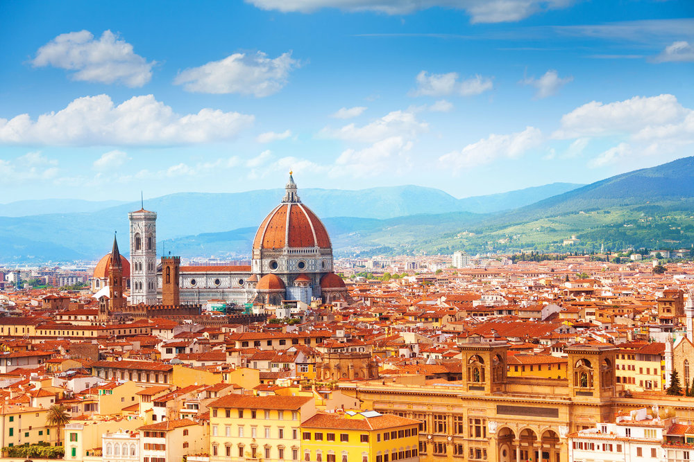 Standing out in the stunning vista of Florence is the Duomo with the dome by Brunelleschi and tower by Giotto. Sergey Novikov ShutterStock.com
