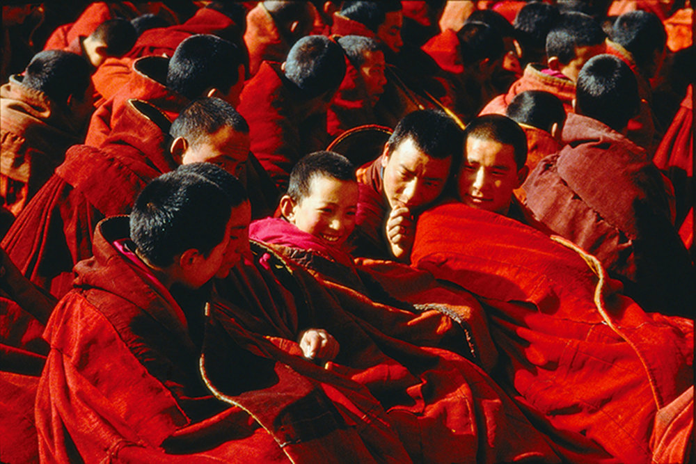 "In most of my production, the production partners and top management were largely Tibetan refugees,"" says Tufenkian. ""Their kind and good-humoured style always touched me and drew me to work with them, while their simple integrity provided the basis for long cooperation and complete trust. I quickly learned to love and respect the gentle and fun-loving nature of the Nepali workers, and their fantastic work ethic."""