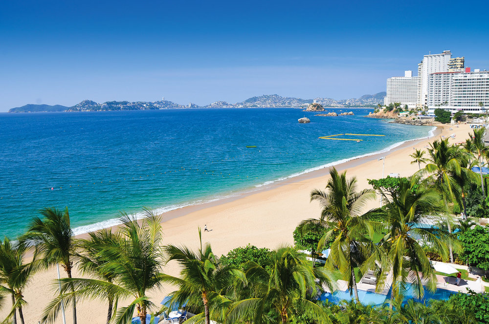 There are many oceanfront resorts on the Acapulco beaches. Rafal Kubiak / shutterstock.com