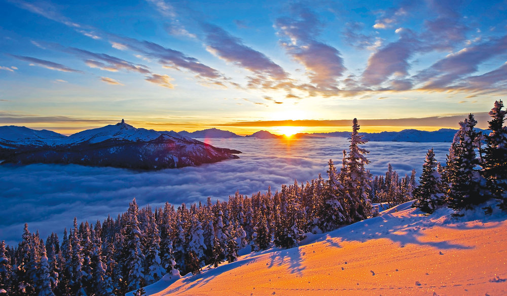 A view from the slopes of Whistler above the clouds. John Crux / shutterstock.com