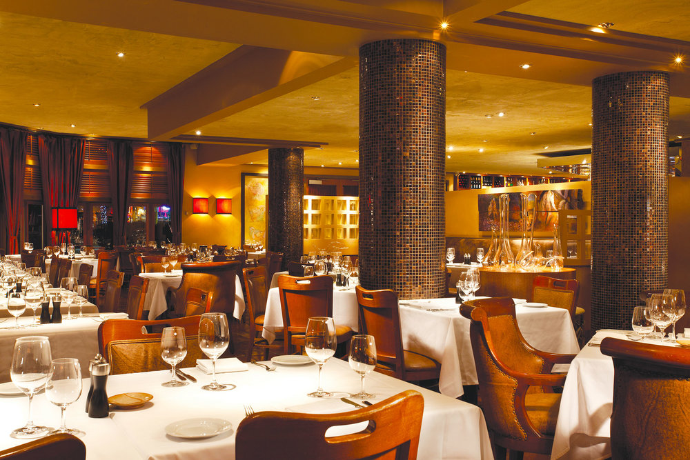 The dining room at Araxi is a perfect après-ski spot. Steve Li