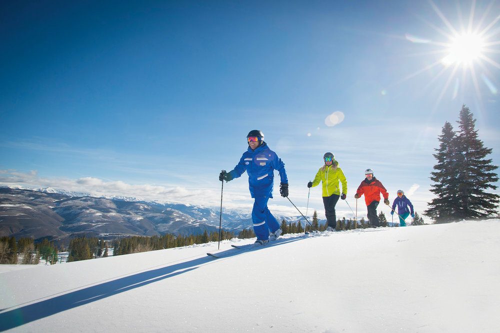 On traversing slopes, telemark skiing is popular. Dan Davis / Vail Resorts
