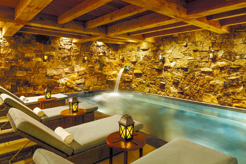 The rock-lined Grotto at the Ritz Carlton spa. Photos courtesy of The Ritz-Carlton, Bachelor Gulch