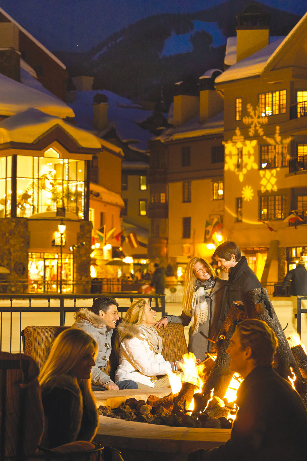 The firepit in Beaver Creek Village. Photos courtesy of The Ritz-Carlton, Bachelor Gulch