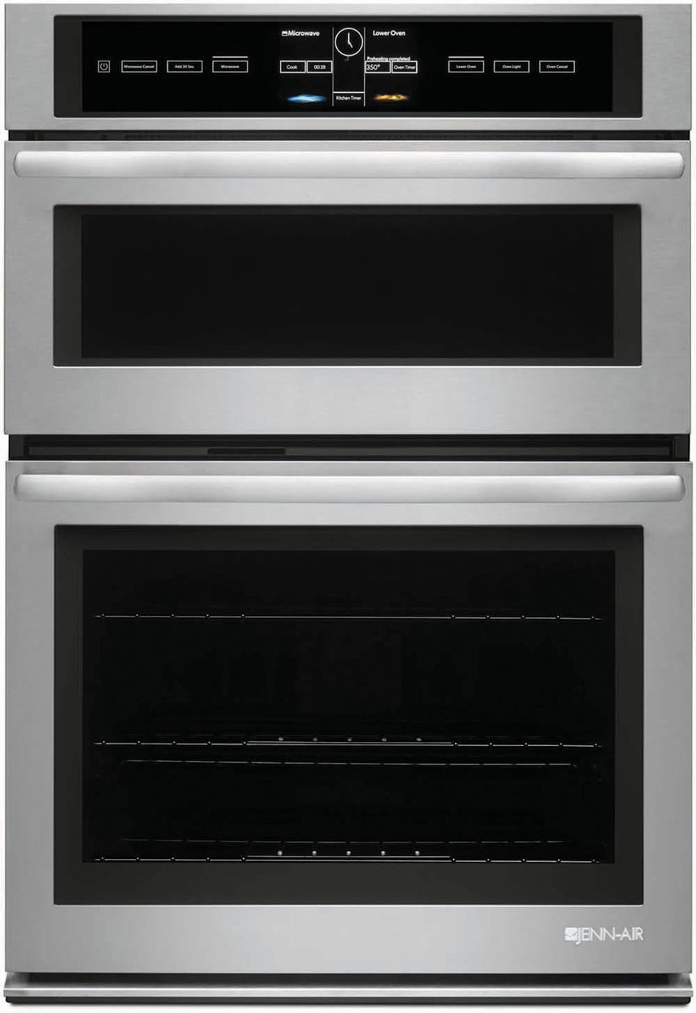 """Jenn-Air 30"""" Microwave/Wall Oven with V2 Vertical Dual-Fan Convection System At Trail Appliances, (604) 278-6133, jennairblack.ca"""