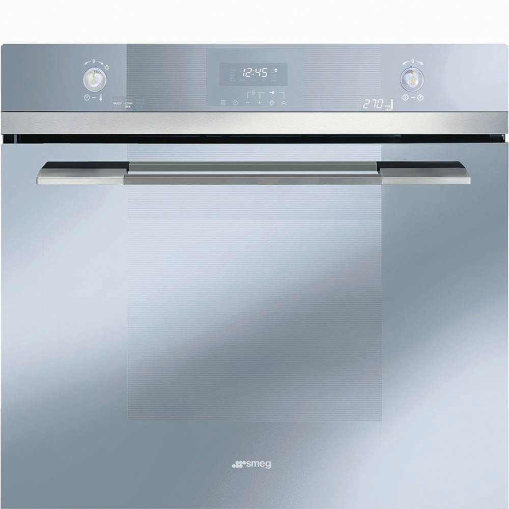 "Smeg 30"" Linea Electric Multifunction Oven Silver Glass At Euro-Line Appliances, (604) 235-3980, smegusa.com"