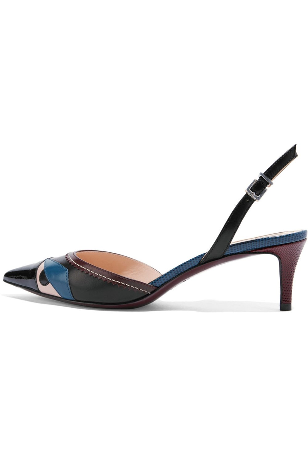 Bag Bug Appliquéd Leather Pumps by Fendi