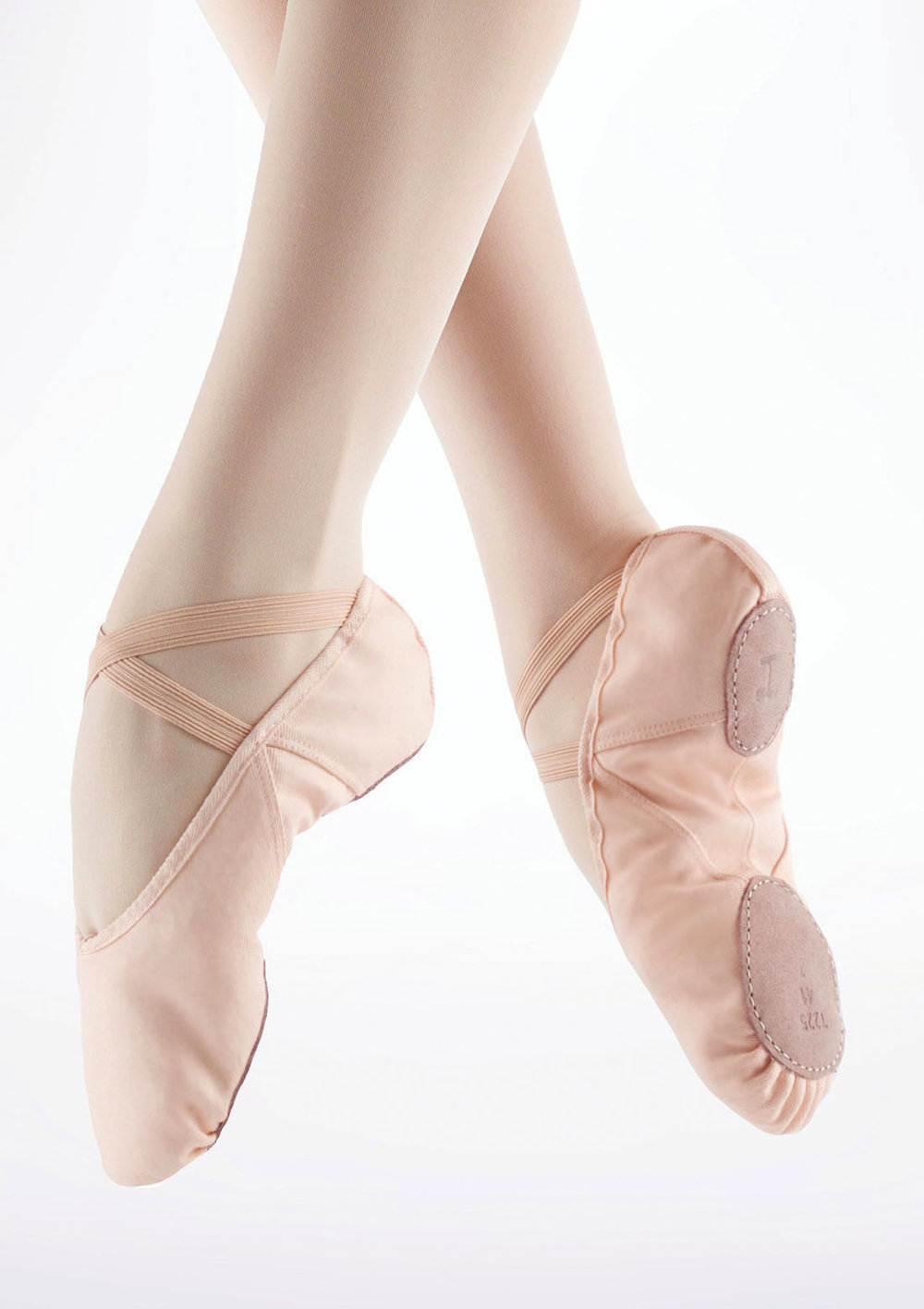 Professional Repetto soft ballet shoes with split sole;