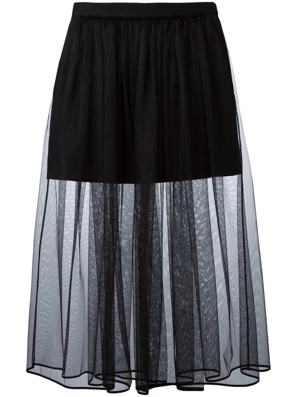 Pleated Tulle Skirt by Givenchy