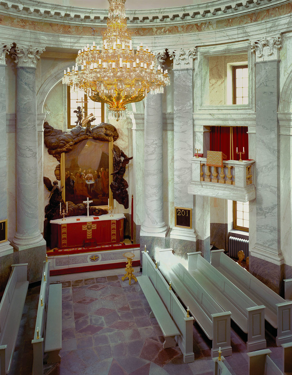 The palace chapel is still used today for royal christenings. Photo courtesy of Swedish Royal Court