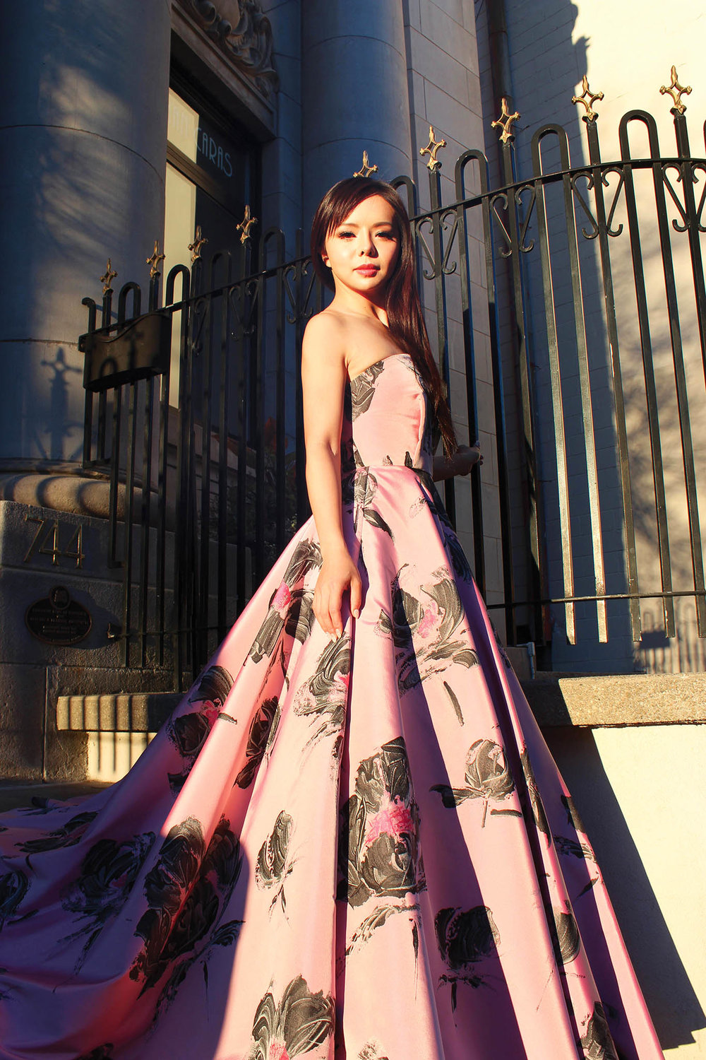 Anastasia Lin, Miss World Canada, is timeless in a Stephan Caras original ball gown.  Photo by Graham Saywell