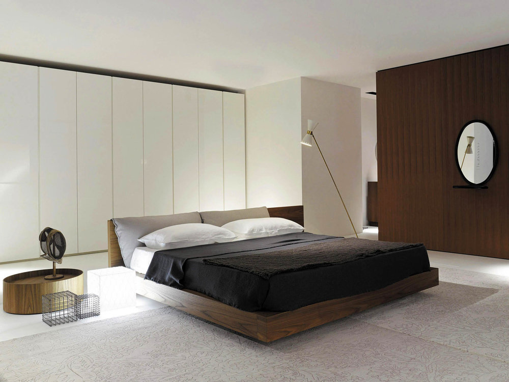 Porro Taiko European King-Size Bed, Starting at $8,230  At Livingspace, (877) 683-1116 livingspace.com
