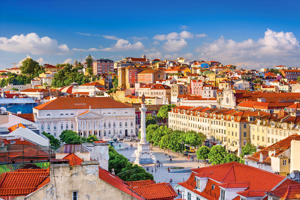 Rossio Square has been one of Lisbon's main squares since the Middle Ages. leoks / shutterstock.com