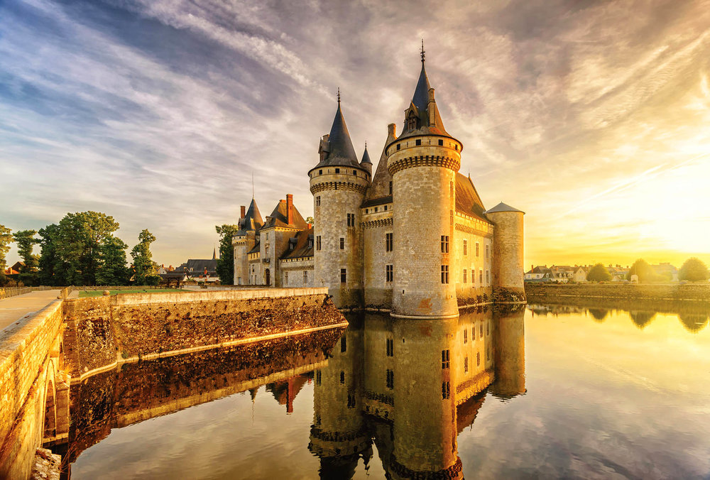 The stately Medieval fortress of Sully-sur-Loire protects the river and seats the Duke of Sully. Today it hosts a classical music festival each June.Viacheslav Lopatin / shutterstock.com