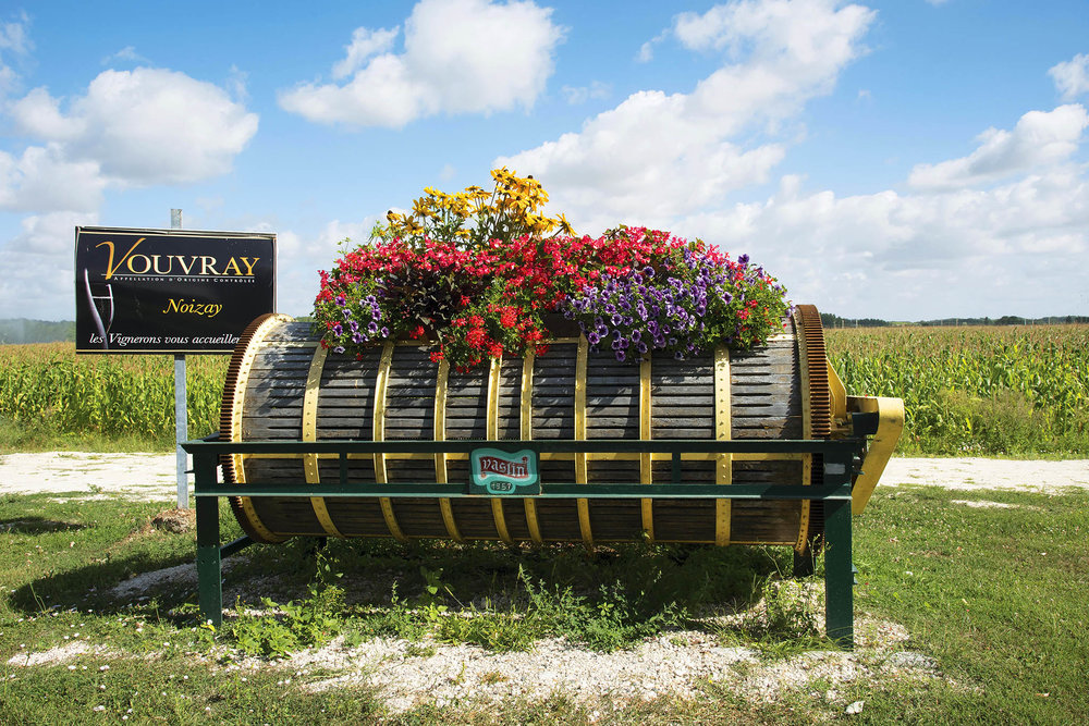 An old wine press welcomes you to Vouvray, most of which still produces wine according to traditional techniques.Peter Titmuss / shutterstock.com