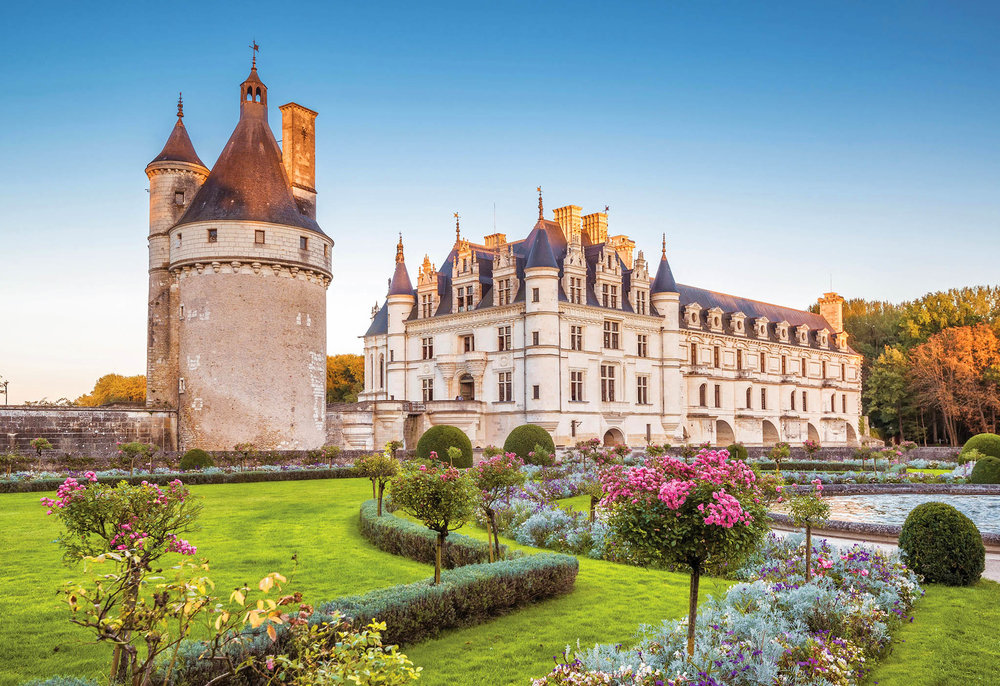 The grounds of Chenonceau include a hedge maze, vegetable garden, and a traditional French garden. Viacheslav Lopatin / shutterstock.com
