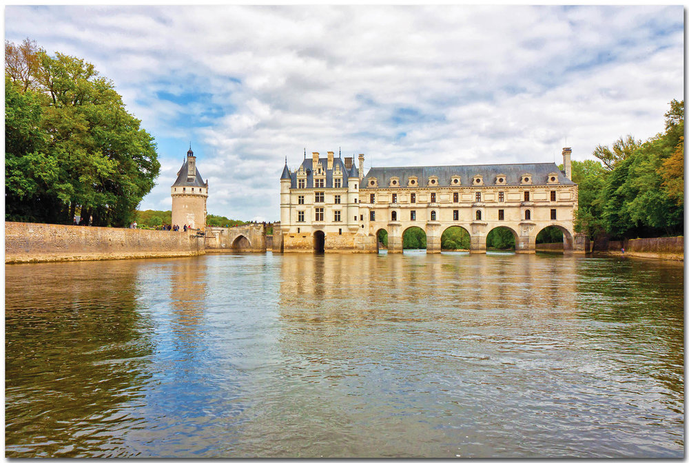 The most recognizable of the Loire chateaus, the elegant Chenonceau spans the river Cher. Christophe Faugere / shutterstock.com