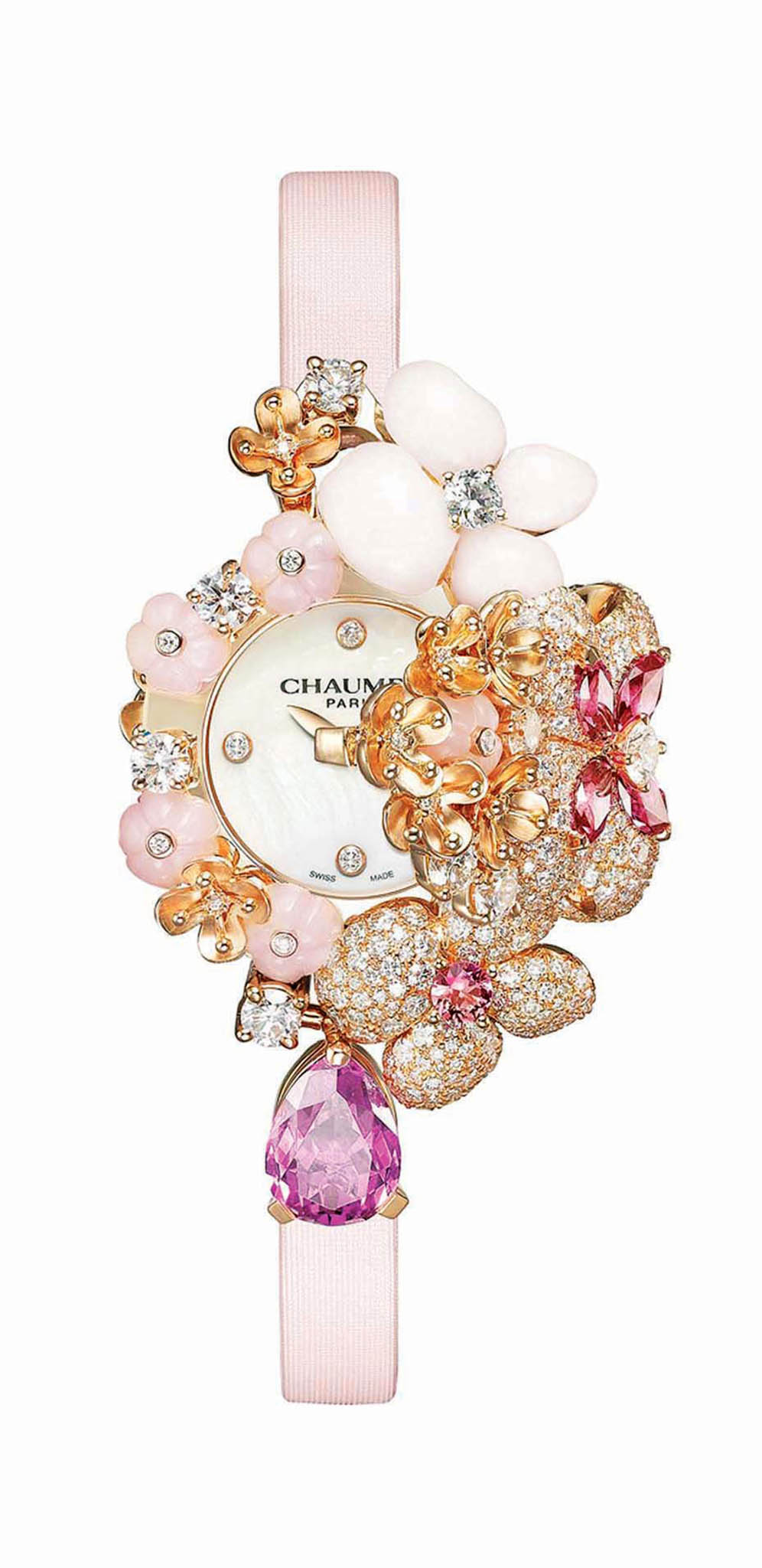 "Hortensia ""Aube Rosée"" Secret Watch by Chaumet"