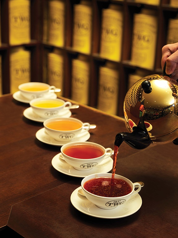 Teas range from white, barely transparent, to robust and dark, depending on what part of the plant they are picked from and the process of finishing the leaves. Photos courtesy of TWG Tea