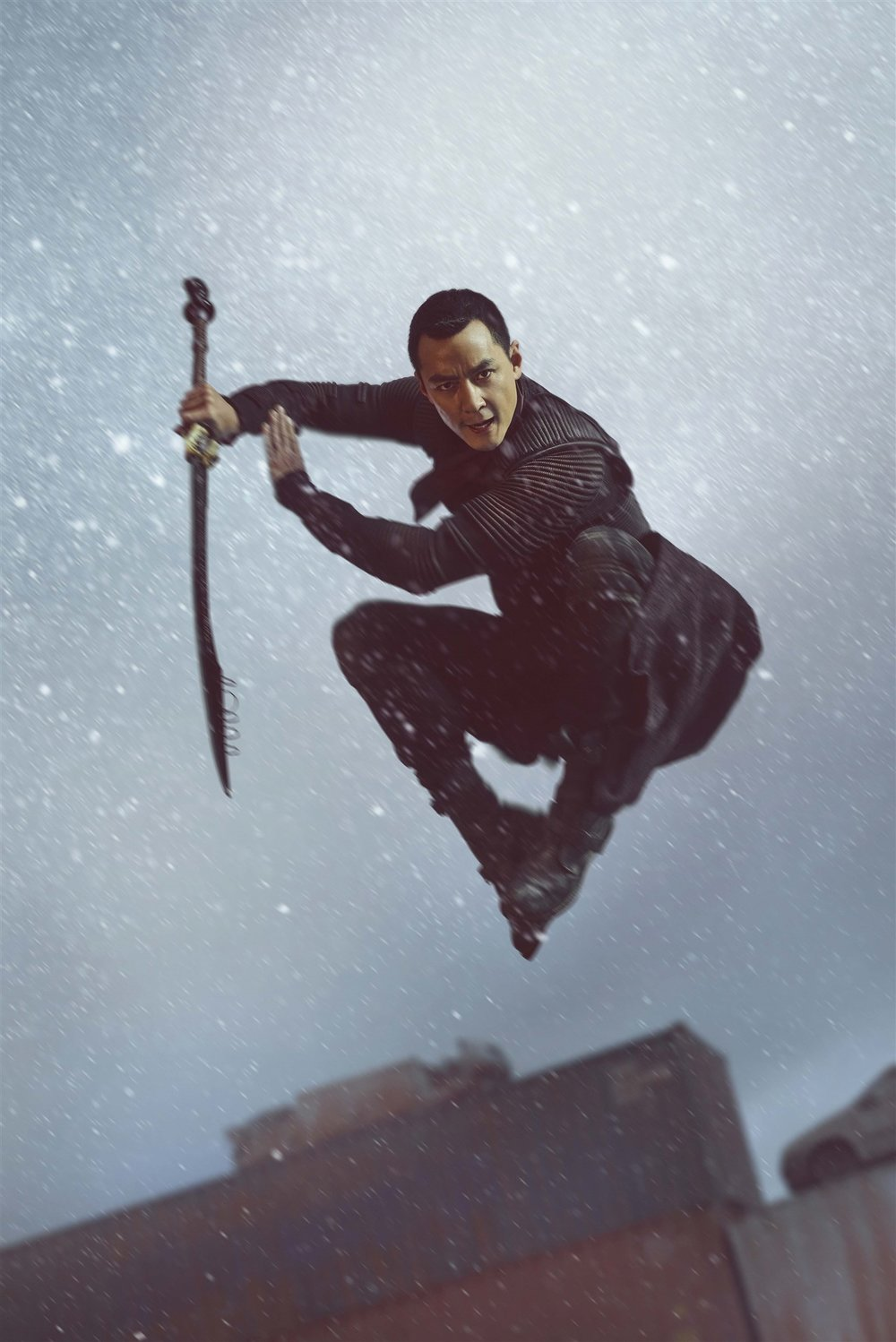 Wu shows off his mastery of traditional wushu and other martial arts in an episode from season two of Into the Badlands. Before the season started, Wu and other actors attended a five-week training camp to prepare for the show's arduous fighting scenes.  Carlos Serrao/AMC