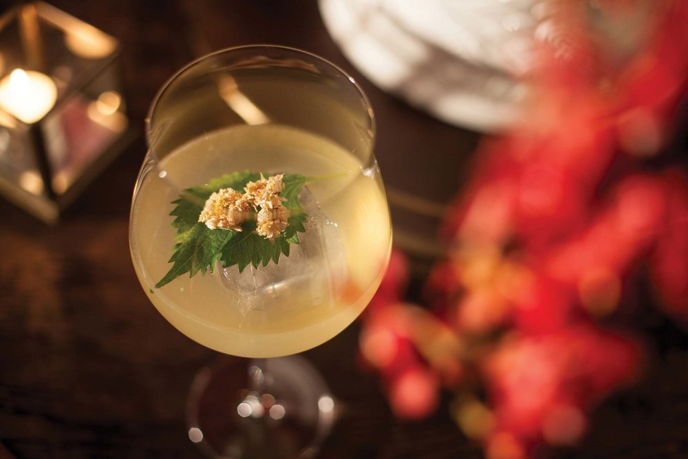 One of the most popular of Mott 32's signature drinks, Hanami blends three liquors with ginger ale for a sparkling alternative to a traditional whiskey cocktail.