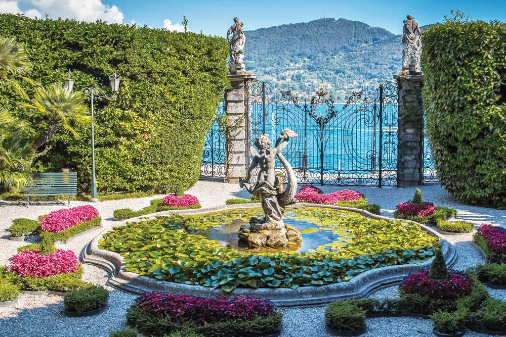 The lush botanical gardens of the the Villa Carlotta.   iryna1 / Shutterstock.com
