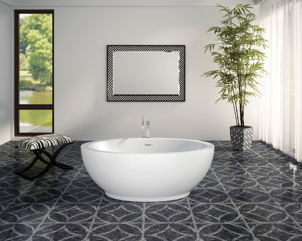BainUltra Opalia Magnificient Jewel Bath Oval-shaped freestanding bathtub.