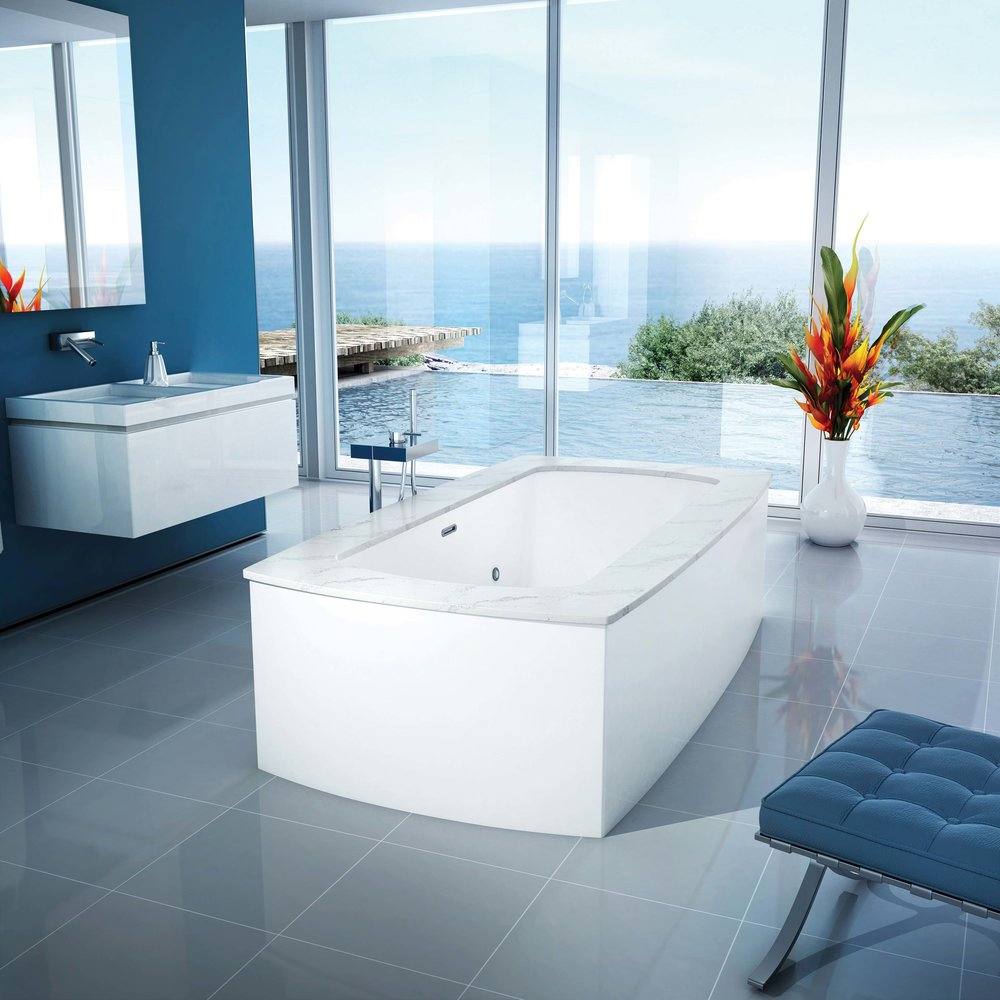 BainUltra Monarch Sumptuously Designed Bath Therapeutic bath, available in wood and marble.