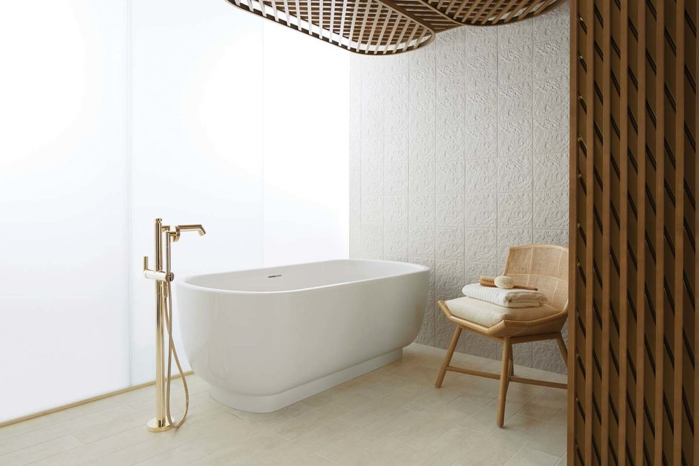 Kallista Freestanding Bathtub Simply designed, modern freestanding bathtub. At Ann Sacks Tile & Stone, (604) 742-2015 annsacks.com