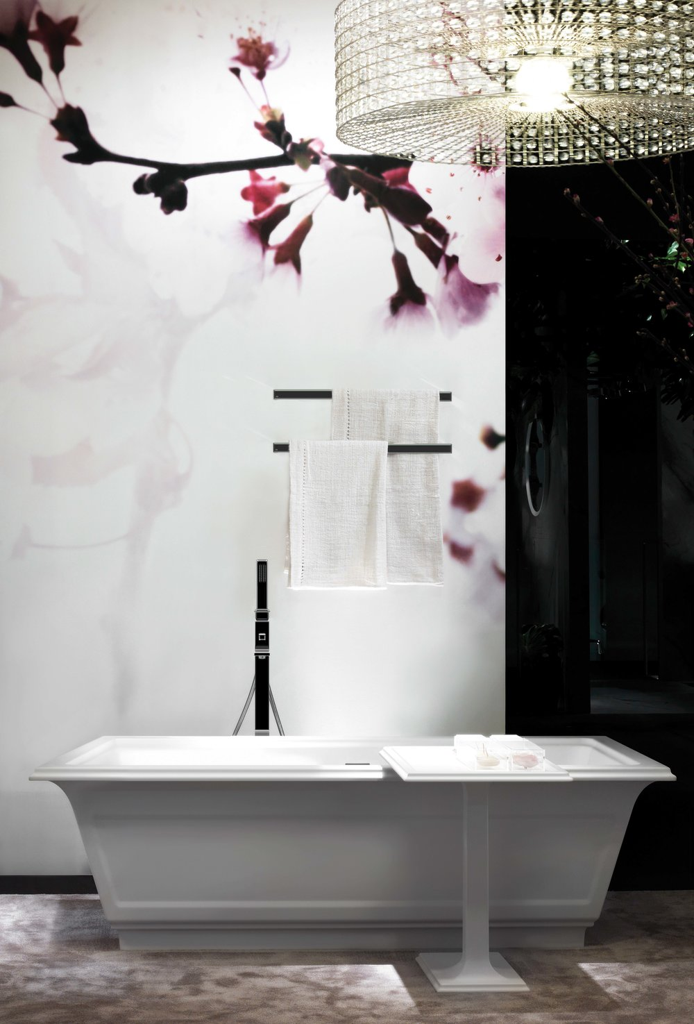 Gessi Eleganza Bath Geometric, classically inspired freestanding bathtub. At Cantu Bathrooms, (604) 688-1252 cantubathrooms.com