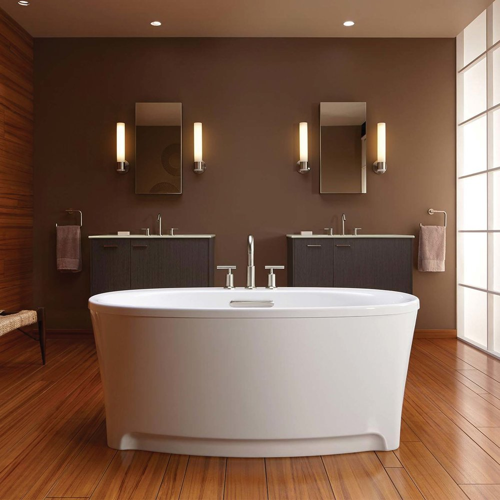 Kohler Underscore Freestanding Bath Oval-shaped freestanding bathtub. At Robinson Bath & Lighting, (604) 879-2494 robinsonlightingandbath.com