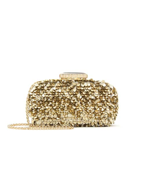 Embroidered Lamé Goa Clutch by Oscar de la Renta $2,719