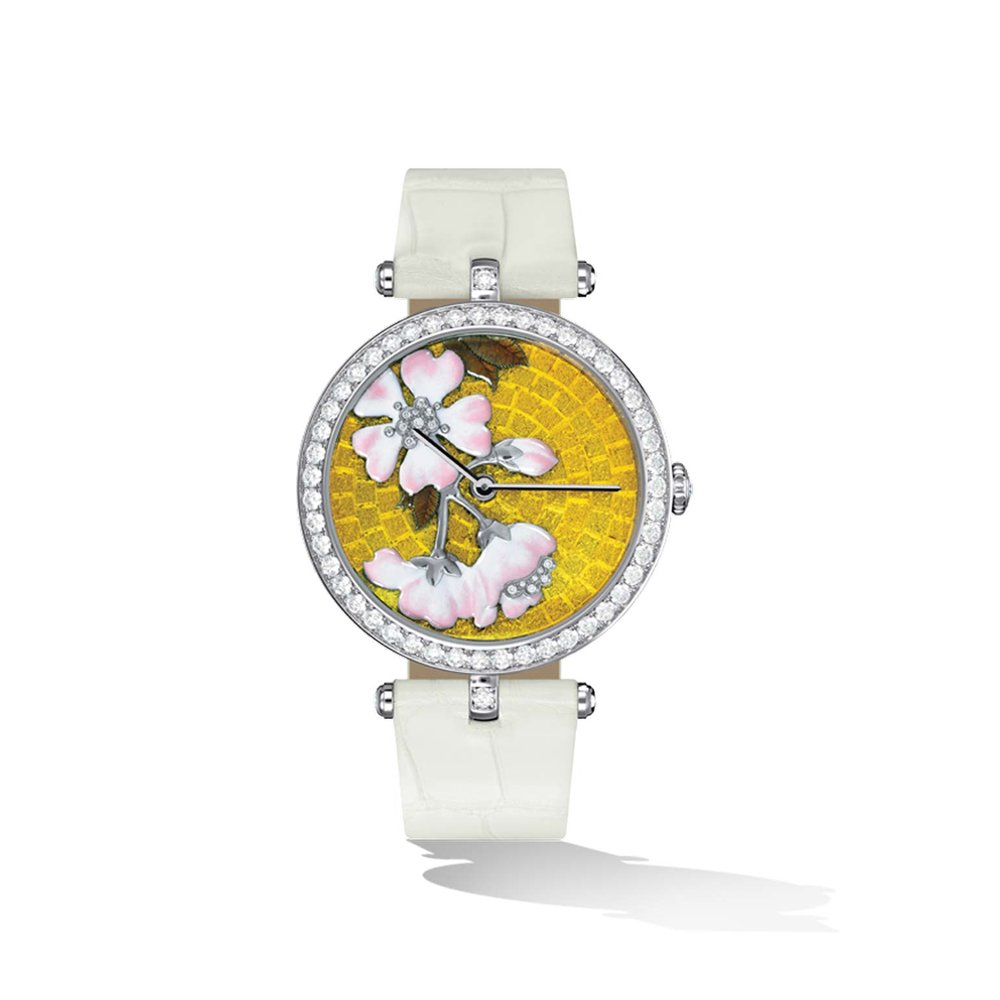 Lady Arpels Palais de la Chance Fleurs de Cerisier Watch by Van Cleef & Arpels