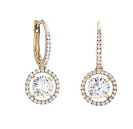 Aura Pink Gold Sleeper Earrings by De Beers $9,900