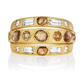 Talisman Three Line Ring by De Beers $14,600